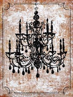 Vintage Chandelier   Vintage Chandelier I - Buy Cheap Architecture Posters and Art Prints ...