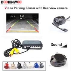 Low Price $28.98, Buy Koorinwoo Dual Core CPU Parktronic 4 car Parking Sensors car Rear view camera parking Accossories Park Radar Alarm Video System