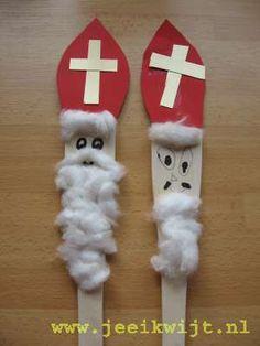 #knutselen met kinderen tijdens #sinterklaas #DIY ~Sinterklaas van pollepel~