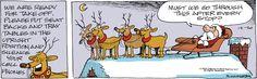 #Traveling gets repetitive for #Santa and his reindeer! | Read Bound and Gagged #comics @ www.gocomics.com/boundandgagged/2014/12/20?utm_source=pinterest&utm_medium=SocialMarketing&utm_campaign=social_post_pin | #GoComics #webcomic #Christmas