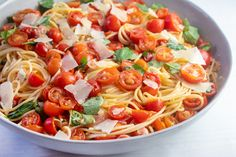 Marinated Cherry Tomato Pasta   Giadzy Giada Recipes, Pasta Recipes, Vegetarian Recipes, Dinner Recipes, Cooking Recipes, Healthy Recipes, Dinner Ideas, Vegetarian Cooking, Giada De Laurentiis