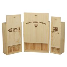 [Hot Item] Wooden Box for Wine & Storage & Gift Wine Boxes, Wine Packaging, Wood Sizes, Wine Storage, Wood Veneer, Real Wood, Wooden Boxes, Customized Gifts, Hospitality