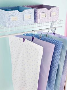 Add slits to old pillowcases to turn them into garment bags.  Source: Better Homes and Gardens