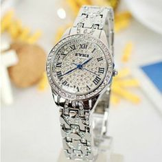 Fashionable Roman Numerals With Crystal Women's Luxury Watch - USD $61.95