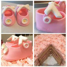 #baking #cake #buttercream #fondant #babycake #fun #itsagirl