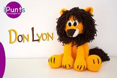iPunts: Don Lyon, un león amigurumi! Crochet Lion, Chunky Crochet, Crochet Animals, Crochet Toys, Crochet Baby, Amigurumi Toys, Amigurumi Patterns, Crochet Patterns, Knitting Projects