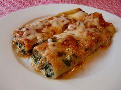 Cannelloni mit Ricotta-Spinat-Gorngonzola-Füllung