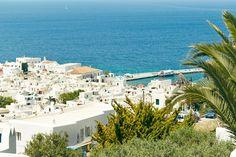 View of Chora, Mykonos, Cyclades, Greece. Photo by: Jenny Zarins