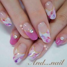 Orchid Japanese nails