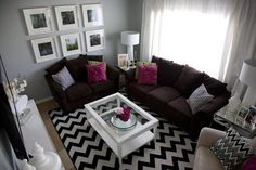 Similar in layout to my living room in a totally different color scheme.