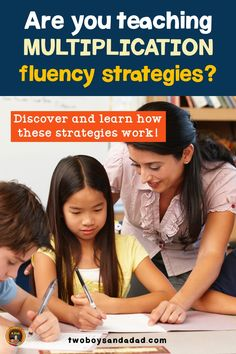 Why don't students know their multiplication facts? There's lots of reasons, but get them fluent by teaching them multiplication fluency strategies. Multiplication Strategies, Teaching Multiplication, Math Strategies, Teaching Math, Teaching Resources, Math Tips, Math Fractions, Math Lessons, Teaching Ideas
