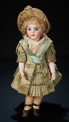 French Bisque Blue-Eyed Bebe Bru Jne, Size 3, Bru Costume, Signed Bru Shoes 15,000/18,000 Auctions Online | Proxibid
