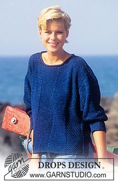 DROPS 50-20 - DROPS Sweater for Men and Women in Muskat Soft-Denim - Free pattern by DROPS Design