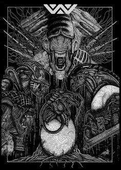 Alien - Rotworks - ''Xenomorph Family Portrait'' ----