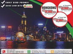 Book early for the peak season. Experience #Hongkong's iconic skylines, #disney theme park, traditional food, shopping centers and more. Grab our early bird promo and book a #travel with #flightdaddy today!  CALL US! ☎ TRUNKLINE: (045) 409-7974 ✆ GLOBE / TM: 0926.388.3945 / 0906.862.4993 ✆ SMART & SUN: 0949.872.4265 / 0942.492.0392 EMAIL US AT: traveltoursph@gmail.com SEND US A DIRECT MESSAGE AT: http://facebook.com/flightdaddy #TravelMore #TravelAddict #TravelPackage