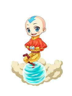 """aang chibi 3 avatar the last airbender chibi"" iPhone Case & Cover by Anime-Dude 