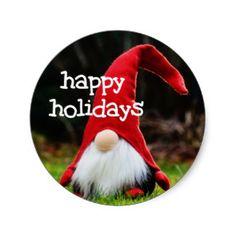 Happy holidays sticker  3.8cm = 20 per sheet  by Red Rockets Design