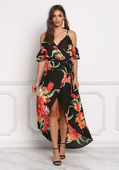 Women Off Shoulder Dress Vintage Floral Maxi Long Dress Female Sleeveless Drawstring Waist Tassels Side Slit Boho Beach Dress Smoothing Circulation And Stopping Pains Women's Clothing