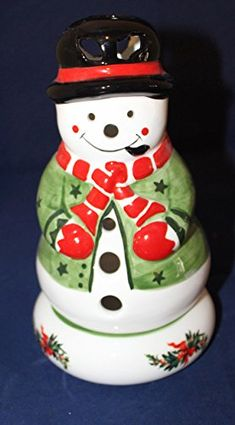 Pfaltzgraff Christmas Heritage Sculpted Pierced Snowman Holiday Lite *** Read more reviews of the product by visiting the link on the image. (This is an affiliate link) Christmas Candle Holders, Sculpting, Snowman, Candles, Link, Holiday, Image, Home Decor, Sculpture