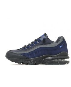 the latest 496b5 29184 Nike Air Max 95 Junior Blue Black Trainers Air Max 95, Cheap Nike Air Max