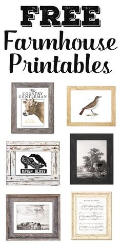 Add some free vintage & farmhouse printables to your walls!