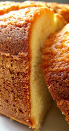 """Nana's PoundCake ~ This wonderful pound cake travels well and can be """"Dressed Up"""" With a glaze of your choice or is pretty just dusted with powdered sugar. Good for breakfast, snacks and after dinner with coffee. Perfect Pound Cake Recipe, Pound Cake Recipes, Best Pound Cake Recipe Ever, Bundt Pound Cake Recipe, Easy Pound Cake, Just Desserts, Delicious Desserts, Dessert Recipes, Recipes Dinner"""