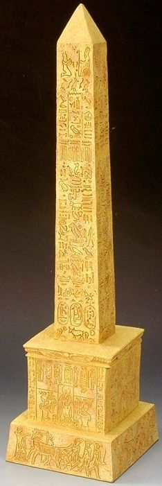 Ancient Egypt AE038 Cleopatra's Needle Obelisk - Made by King and Country Military Miniatures and Models. Factory made, hand assembled, painted and boxed in a padded decorative box. Excellent gift for the enthusiast.