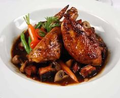 One of Chef Denis' favorite meals, Coq au Vin offers a deliciously braised Free Range Chicken recipe that is sure to impress any guest!