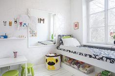 Excellent use of space!  Bilder, Barnrum, Trägolv, Vitt, Tapet - Hemnet Inspiration