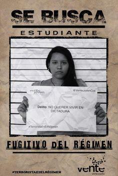 Delito no querer vivir en dictadura No es terrorista. #TerroristaEsElRegimen RT