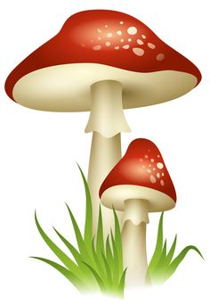 """Photo from album """"Грибы"""" on Yandex. Mushroom Drawing, Mushroom Art, Mushroom Clipart, Simple Artwork, Birthday Clipart, Woodworking For Kids, Fruit Art, Whimsical Art, Colouring Pages"""