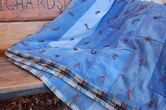 Jean Quilt Tutorial. I have wanted to make one of these for years. I gave away all of our jeans a year ago...better start saving up again!