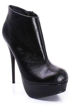 black booties $16.99