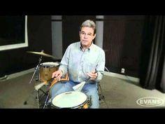 Ed Soph Brush Lesson Part 1 of 7 - Right Hand Technique