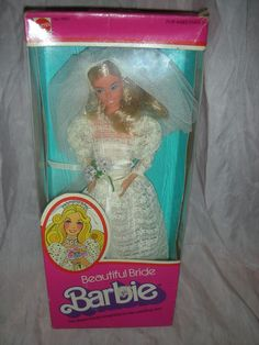 Here is a vintage Beautiful Bride Barbie Doll in the Superstar style from 1976. Description from rubylane.com. I searched for this on bing.com/images