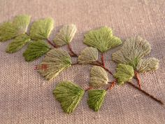 #embroidery #leaf