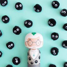 Hayao Miyazaki Kokeshi Doll - Studio Ghibli - Sketchinc