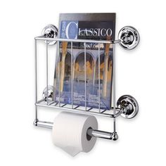 Toilet Paper Holder Magazine Rack Wall Mount Bathroom Tissue Storage Bath Chrome for sale online Magazine Rack Wall, Magazine Storage, Magazine Holders, Magazine Stand, Metal Magazine, Bookcase Organization, Bathroom Organization, Bathroom Storage, Bathroom Gadgets