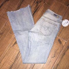 Women's AG Adriano Goldschmied Sz 27R The Club raw hem distressed jeans 3M #AGAdrianoGoldschmied #TheClub