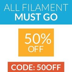 """Something we liked from Instagram! 50% off everything using code """"50off"""" Add the coupon code on the view cart screen prior to initiating the stripe checkout - - 50% off all filament. Use coupon code """"50off""""  @filamentcentral  #3D #3dprint #3dprinter #3dprinted #makerbot #reprap #shapeways #3dfilament #hero #selfmade #autodesk #followme #gopro #diy #toomanyhashtags #3dprint #inventor  #art #zeusprinter #3dmodeling #3dprinted #filaments #additivemanufacturing #prototyping #imagination #design…"""
