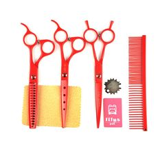 LILYS PET 2016 NEW PRODUCT Professional PET DOG Grooming scissors CuttingandCurvedandThinning shears,Round Hole Design, Shark Teeth Thinning scissor >>> Read more at the image link. (This is an affiliate link and I receive a commission for the sales)