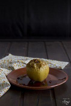Manzanas asadas con nueces y pasas