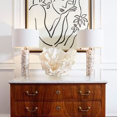 Keep the feel of beach living while enjoying the comforts of your living space with the West Palm table lamp Grab yours at http://www.interiorclue.com/lighting/table-lamps/mother-pearl-mosaic-base-table-lamp-white-drum-shade-lighting-cyandesign-5309.html