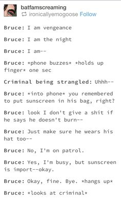 I am a tired father<<<This is great bc it could be DC or Marvel Bruce and like skskslsksas