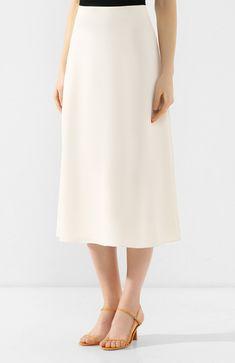 50ae34e3b1c Женская бежевая юбка-миди THEORY — купить за 29850 руб. в интернет-магазине