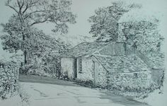 The Old Smithy, Loweswater, English Lake District, original drawing by Karl Stedman, kstedmanart@aol.com