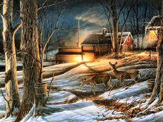 Night Mapling by Terry Redlin