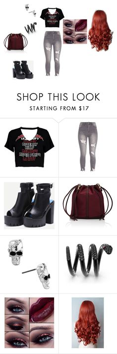 """""""rock outfit"""" by elenatsr on Polyvore featuring Boohoo and Deux Lux"""
