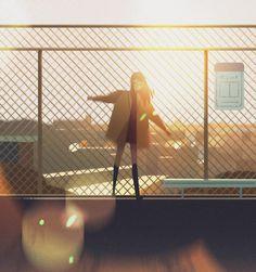 Precious Moments of Solitude Captured by the Illustrator Jenny Yu - Cette Illust . - Precious Moments of Solitude Captured by the Illustrator Jenny Yu – This Illustrator Recalls How - Art Anime Fille, Anime Art Girl, Manga Art, Anime Girls, Pretty Art, Cute Art, Aesthetic Art, Aesthetic Anime, Illustrator