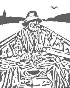 Free MSN Scroll Saw Patterns | Free Scroll Saw Patterns by Arpop: Cape Cod Fisherman